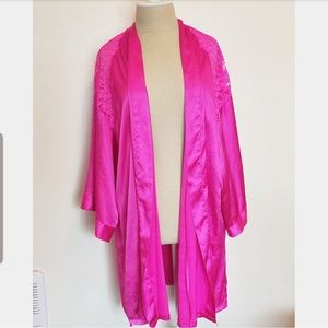 Victoria's Secret Hot Pink Silk Robe